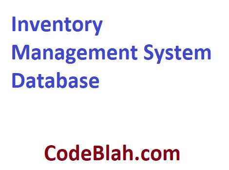 Inventory Management System Database