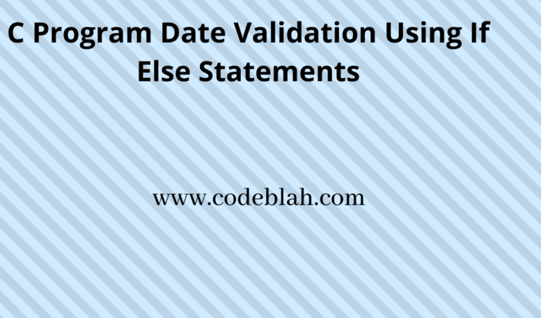 C Program Date is Valid or Not