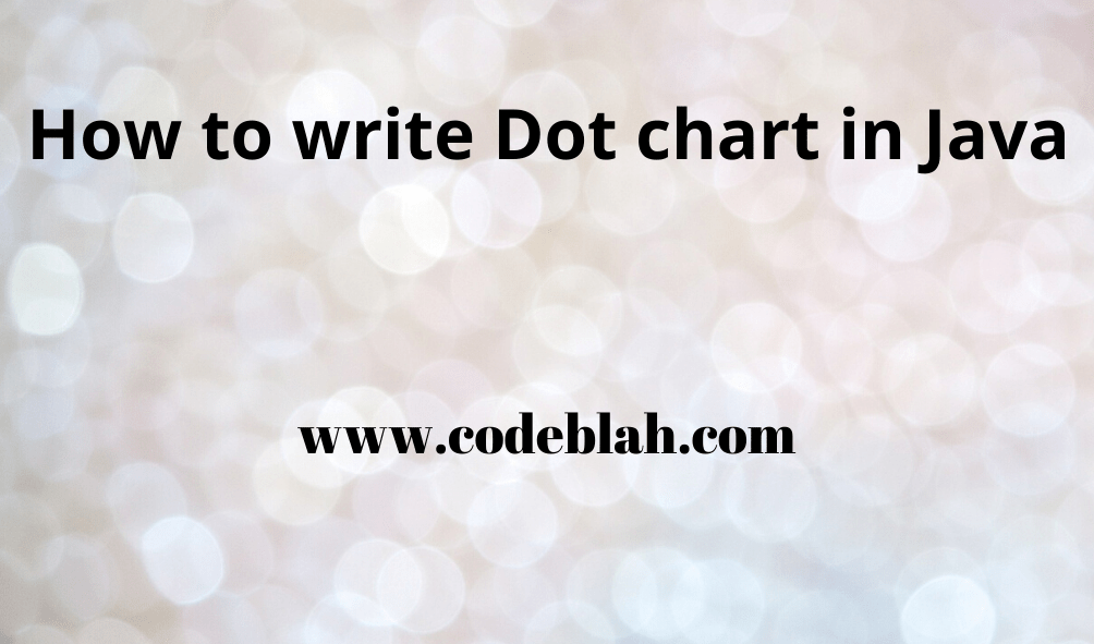 How to write Dot chart in Java
