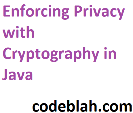 Enforcing Privacy with Cryptography in Java