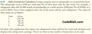 Sales Commission Calculator in Java