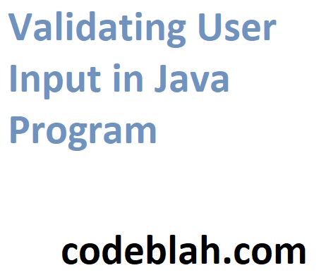 Validating User Input in Java Program