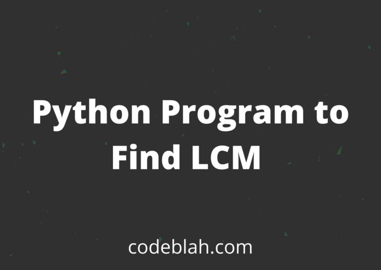 Python Program to Find LCM