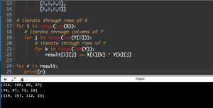 Python Program to Multiply Two Matrices
