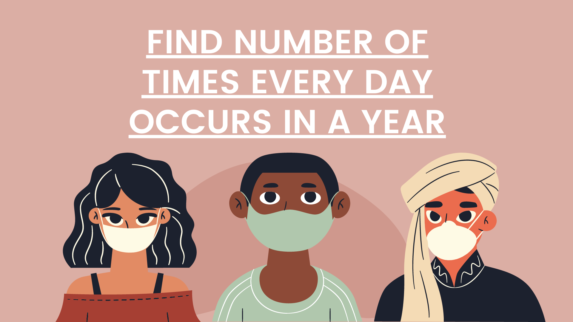 Find number of times every day occurs in a Year