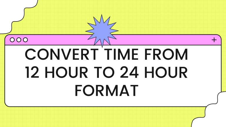 convert time from 12 hour to 24 hour format