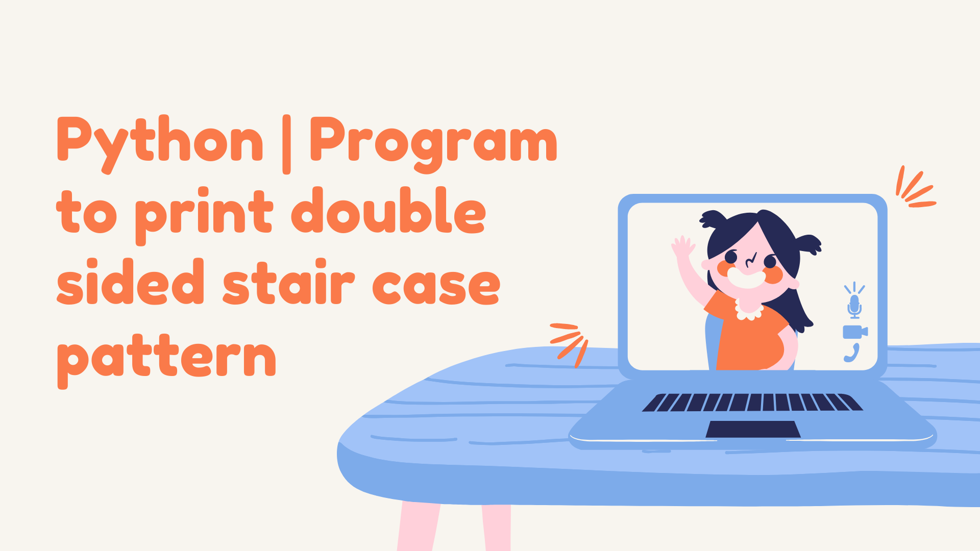 Python | Program to print double sided stair case pattern